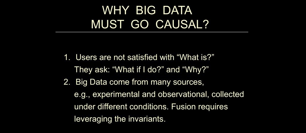 Big Data Must Go Causal